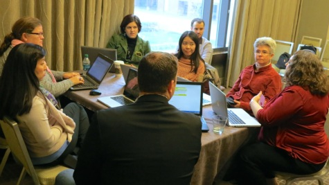 A working group at the 2014 Annual HAMTE meeting.